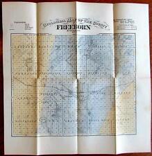 Freeborn Minnesota c.1874 Vintage United States County Geology Map