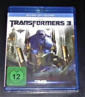Transformers 3 Scuro Of The Moon 3D blu ray+ ray Spedizione più Veloce Nuovo &