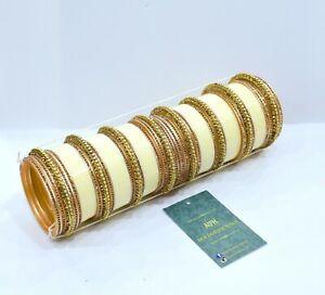 Ivory Designer Chura (Size 2.6) Bridal Punjabi Wedding Jewellery Chuda