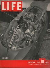 LIFE MAGAZINE SEPTEMBER 7 1942 WOMEN SOLDIERS JAPANESE PRISON CAMPS WAR GLIDER