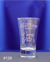Personalised Engraved 60ml conical Shot Glass Wedding favors for guests Birthday