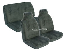 Chevrolet Spark (2013-) Luxury Grey Faux Fur Car Seat Covers - Full Set