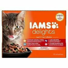 Iams Cat Delights Land & Sea Collection In Gravy (12x85g) - 727333