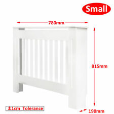 Modern Radiator Cover Cabinet Vertical Slats MDF White Painted Grills Small Size