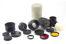 LOT LENSES JUPITER 37A F/3.5 135mm HELIOS 44-2 F/2 58mm INDUSTAR 50-2 50mm MINT
