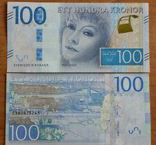 Schweden,ETT Hundra , 100 Kronor,Sweden 2016 Neue Serie NEU 2016