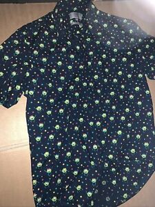 M&S Mens Christmas Shirt Size S Novelty Sprouts Used Party In Lovely Condition