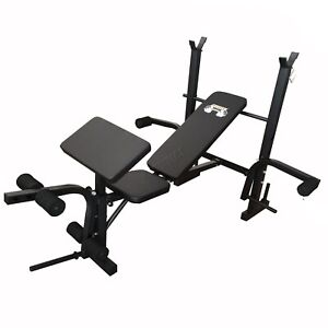 FIT4YOU Adjustable Weight Bench Press Rack Multi Gym Abs Home Fitness Workout