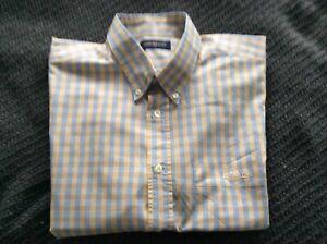 Henri Lloyd short sleeved blue & yellow checked shirt  Size  XL