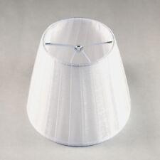 PARALUME MODERNO IN PLISSE ORGANZA BIANCA 14 CM PER LAMPADARI LUMI LAMPADE