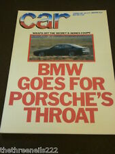 CAR MAGAZINE - BMW 8 SERIES COUPE - MAY 1987