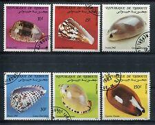 DJIBOUTI 1982, timbres 557/562, COQUILLAGES, oblitérés