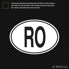 RO Romania Country Code Oval Sticker Decal Self Adhesive Romanian euro