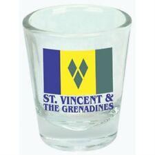 ST.VINCENT & THE GRENADINES FLAG SHOT GLASS