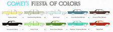 1961 Mercury Comet Dealer Sales Brochure/Catalog w/ Color Chart: Station Wagon,