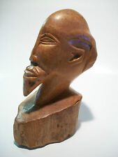 Vintage Fine Art Wood Bust - Hand Carved - Unsigned - Mid 20th Century