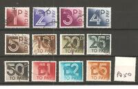 GB - POSTAGE DUE (PD50)- 1982 ISSUE - SET TO £5.00 - 12 values - Used