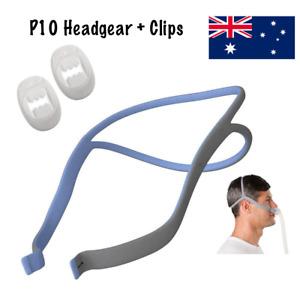 Strap For ResMed P10 CPAP Mask - Blue FOR HIM + 2 Adjust Clips