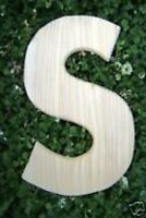 """Letter S alphabet plastic mold 12"""" x  just under 1/2"""" thick"""