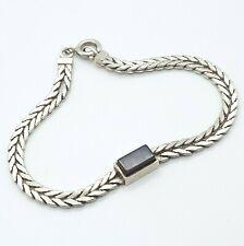 Vintage 835 Silber Armband mit Onyx -  20.5.21