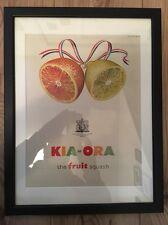 Original Vintage 1950's Retro Framed Advert (43 x 33cms) Kia-Ora Fruit Squash