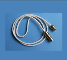 Brass Barrel Pull & Connector with 1.2m Cream Cord for Bathroom Ceiling Switch