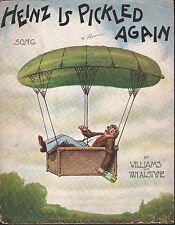 Heinz is Pickled Again 1909 Large Format Sheet Music