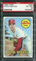 1969 Topps #255 Steve Carlton PSA 6 EX-MT
