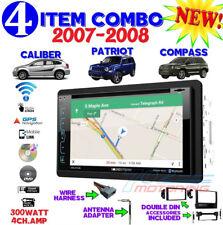 07 08 COMPASS CALIBER PATRIOT NAVIGATION DVD BLUETOOTH DOUBLE DIN CAR STEREO
