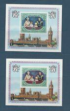 Congo république bloc  famille royale Grande Bretagne 1977 num: BF 13 D et ND **