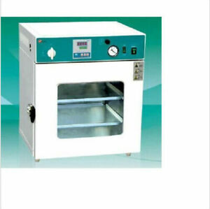 """Lab Digital Vacuum Drying Oven 250°C 12x12x11"""" Cold Rolling Steel"""