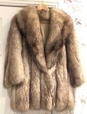 Beautoful Silver Fox Fur Coat Vintage Luxury Small