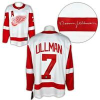 Norm Ullman Detroit Red Wings Autographed White Fanatics Hockey Jersey