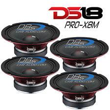 "4) DS18 PRO-X8M 8"" Midrange Car Speaker 2,200W Max 8 ohm Pro Audio (Set of 4)"
