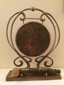 Original Art Nouveau Table Gong marked T & S