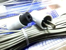 2X 5M Ross 2 pin speaker DIN plug socket extension cable lead wire cables RE85LC