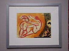 """Lithographie de Marc Chagall , """" Cain & Abel """""""