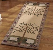 WILLOW & SHEEP HOOKED RUG RUNNER BY PARK DESIGNS NEW