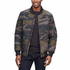 Calvin Klein Men's Quilted Bomber Jacket - GREEN CAMO (Select Size: S-XXL)