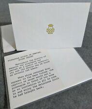 Newport Rhode Island Stationary 10 Pineapple Note Cards Blank Inside