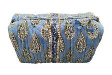 Anokhi Blue Cypress Large Cosmetic Bag