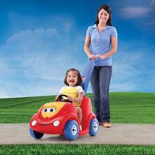 Baby Push Ride Car Kid Baby Walk Toy Seat Belt Handle Red Buggy Storage Space