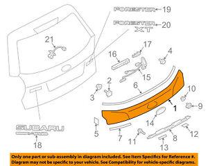 SUBARU OEM 14-16 Forester Liftgate Tailgate Hatch-Finish Panel Trim 91111SG000