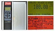 DANFOSS VLT 5000 AQUA 7.5 HP VLT 5008 CAT. AT4C54STR3DLF00A00C0 TESTED GOOD