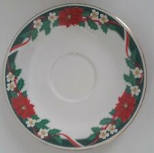 "Tienshan FAIRFIELD Fine China Deck the Halls 6"" Saucer Holiday China"