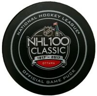 1917-2017 NHL 100 YEARS CLASSIC OTTAWA GARY B. BETTMAN OFFICIAL GAME PUCK