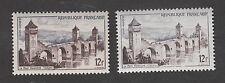 France - Variété Pont Valentré de Cahors - N° 1039 - Impression pâle - Superbe