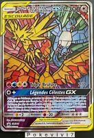 Carte Pokemon SULFURA, ELECTHOR et ARTIKODIN SM210 Promo GX SL11.5 FR NEUF