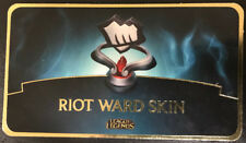 League Of Legends Riot Ward Skin Code Card