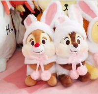 New Disney  Easter Chip and Dale with Rabbit outset Plush Toy 2PCS Gift